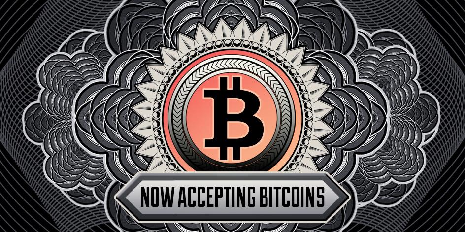 Now Accepting Bitcoins • Free Bitcoin Badge Art