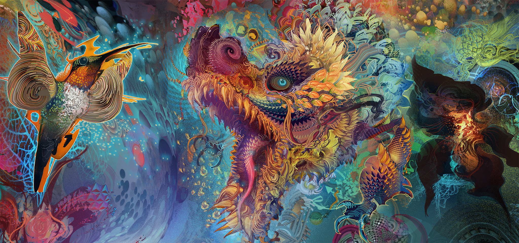 humming dragon by android jones x post from rimaginarymindscapes