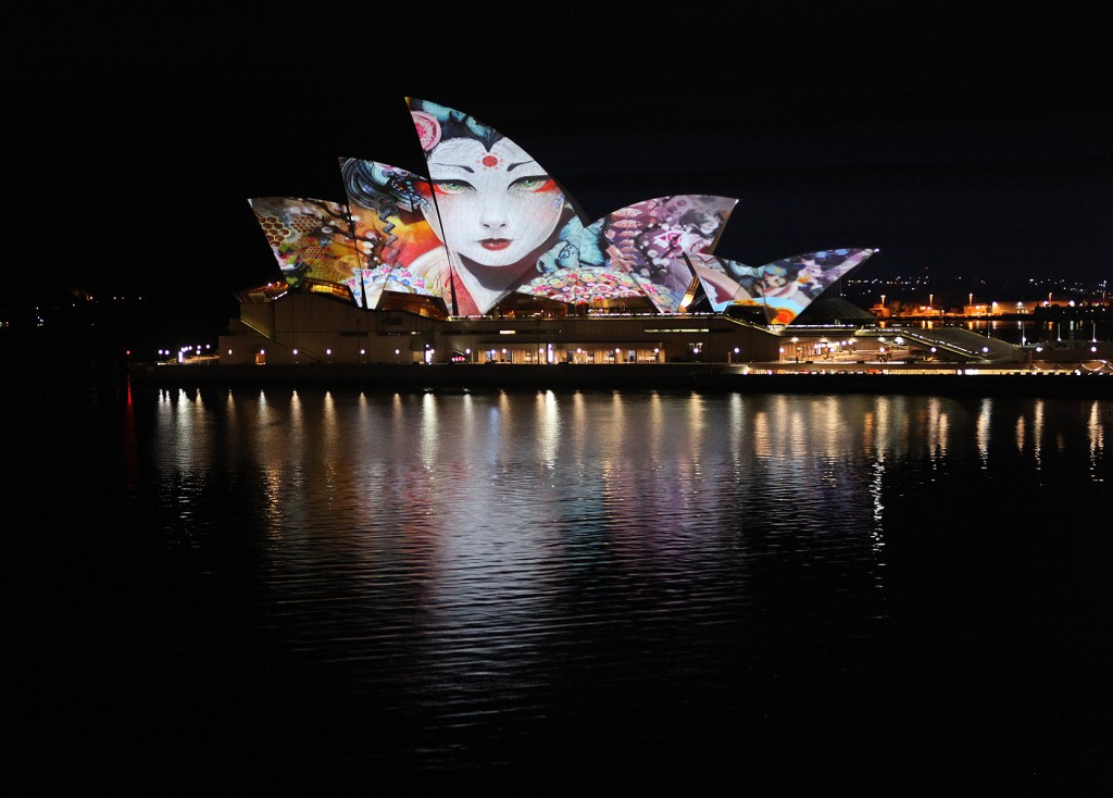 Projections with Obscura Digital in Sydney